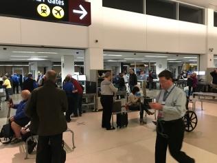 Got past security, thanks TSA Precheck