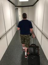 Hubby on his journey!